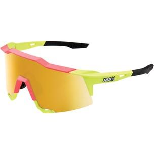 100% Speedcraft Sunglasses With Flash Gold Mirror Lens