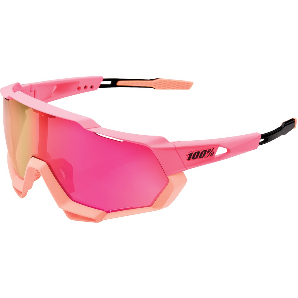 100% Speedtrap Sunglasses With  Purple Multilayer Lens