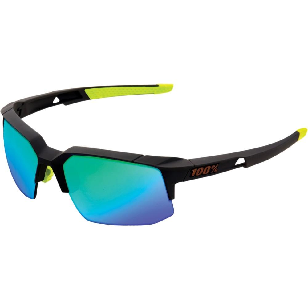 100% Speedcoupe Sunglasses With Green Mirror Lens