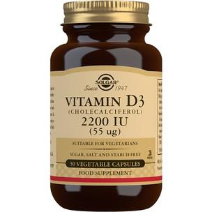 Solgar Vitamin D3 (Cholecalciferol) 2200 IU (55μg) - 50 Tablets
