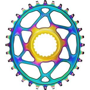 AbsoluteBLACK Oval Shimano Direct Mount 12S 1x MTB Rainbow Chainring