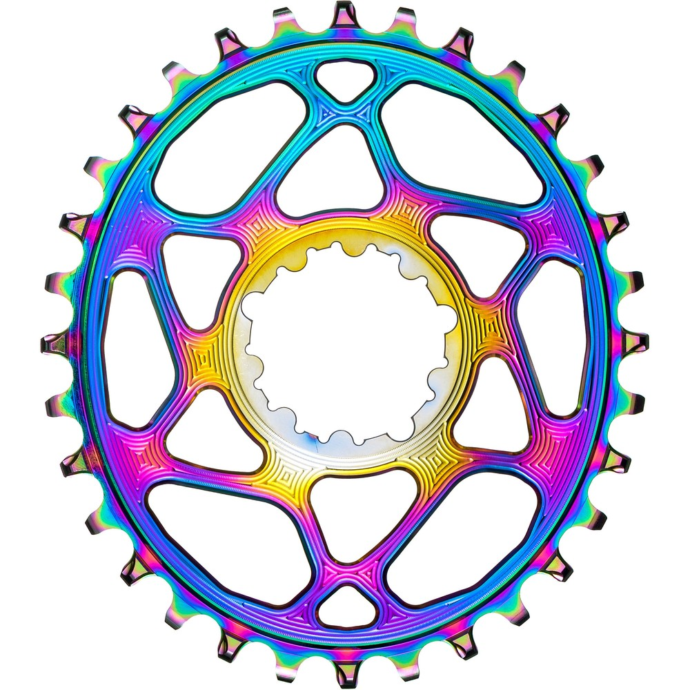 AbsoluteBLACK Oval Rainbow SRAM Direct Mount Boost 3mm Offset 1x Chainring