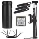 Vel MTB/Gravel Storage Can And AR-Flow Travel Pump Starter Kit