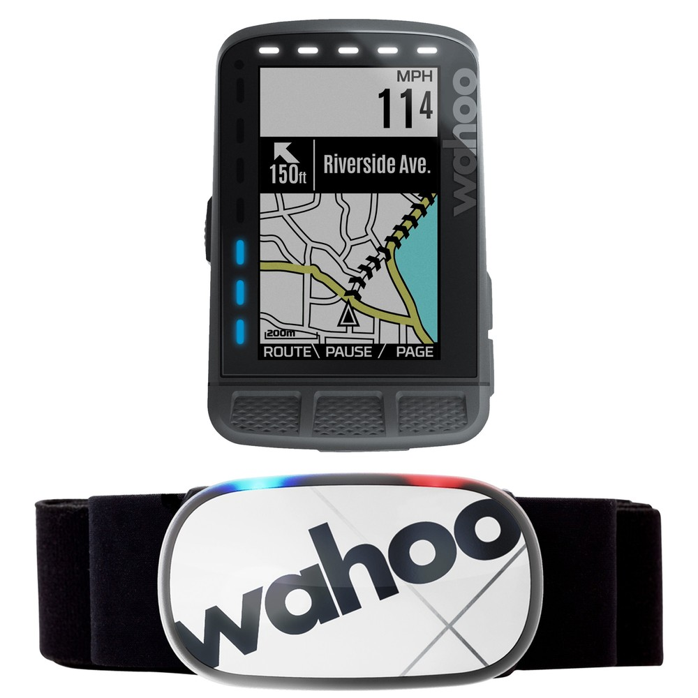 Wahoo ELEMNT ROAM GPS Cycling Computer And TICKR X HRM Bundle