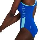 Speedo Boom Logo Splice Muscleback Womens Swimsuit