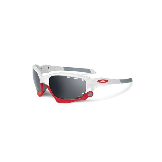 Oakley Racing Jacket Sunglasses Polished White Frame