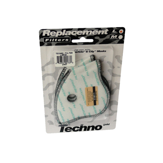 Respro Respro Techno Pollution Mask Replacement Filters Twin Pack