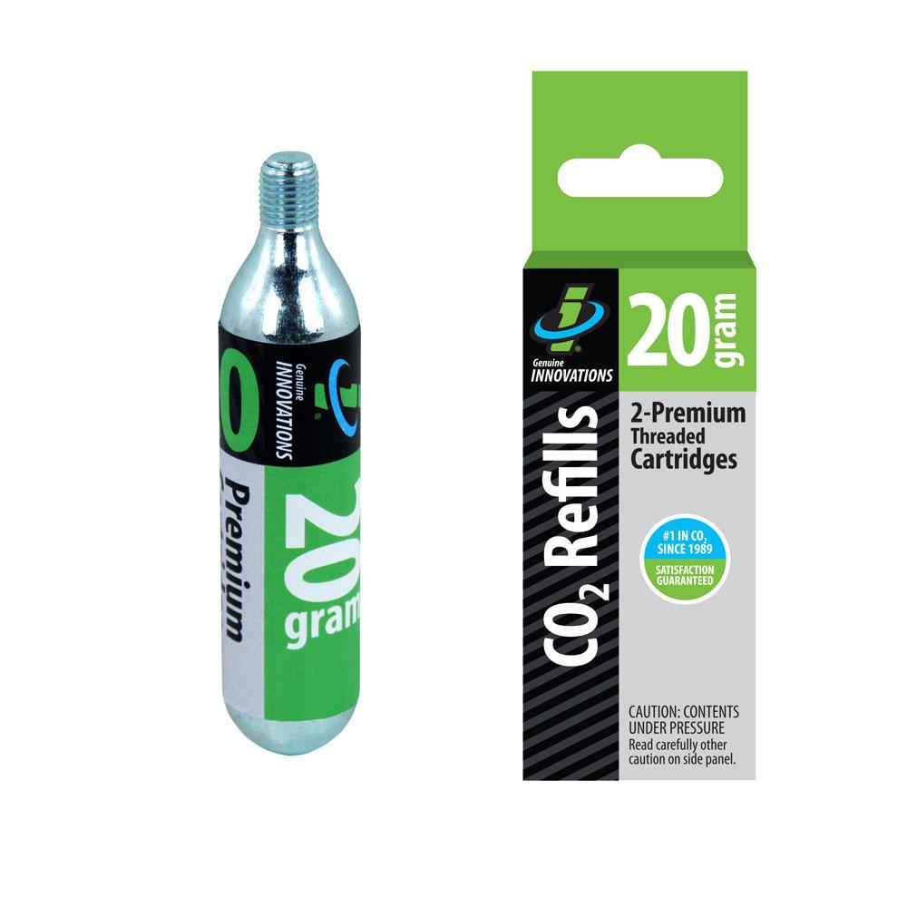 Genuine Innovations 20g Threaded CO2 Cartridges 2 Pack