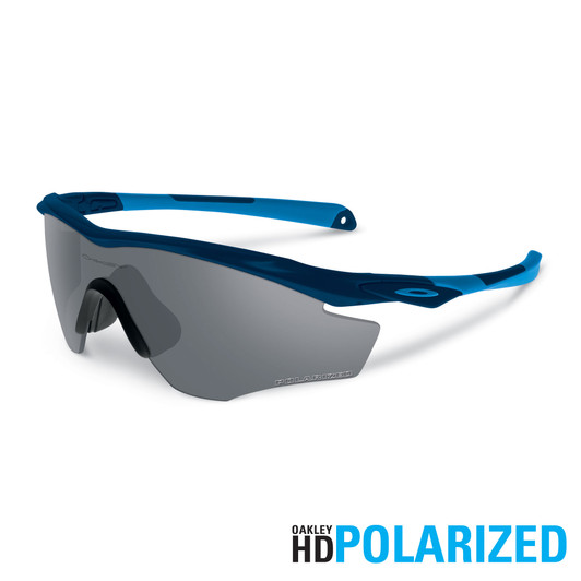Oakley M2 Frame Glasses, Polished Navy With Grey Polarized Lens