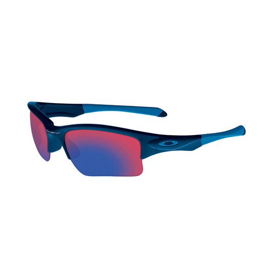 Oakley Quarter Jacket Polished Navy/Red Iridium Lens Sunglasses