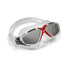 Aqua Sphere Vista Goggle Smoke Lens - Red/White