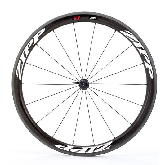 Zipp 303 Firecrest Carbon Clincher White Decal Front Wheel 2015