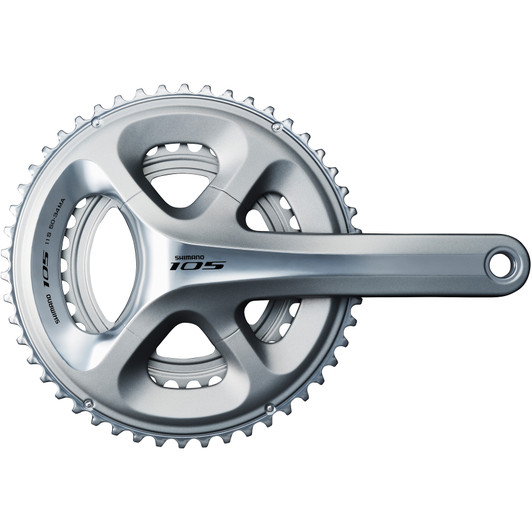 Shimano 105 5800 HollowTech II Chainset - Silver