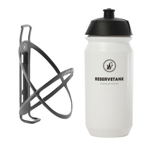 Lightweight Edelhelfer Bottle Cage With Reservetank Bottle