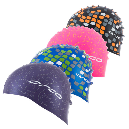 Orca Silicone Swim Cap With Print