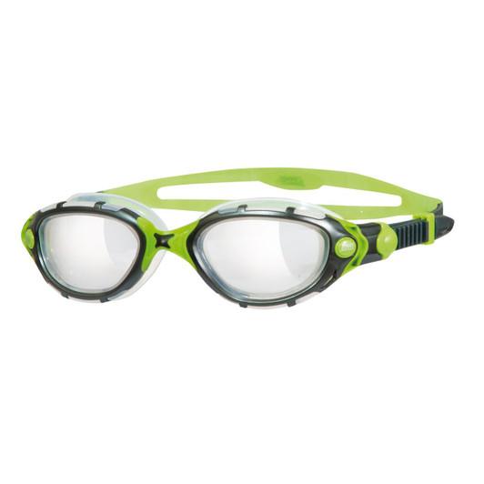 Zoggs Predator Flex Reactor Titanium Goggles Black/Green 2015