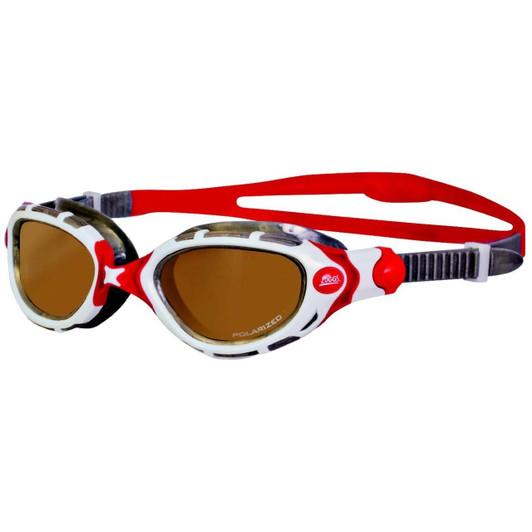 Zoggs Predator Flex Polarized Ultra Goggles Small White/Silver/Red