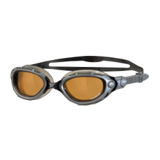 Zoggs Predator Flex Polarised Ultra Goggles Silver/Black