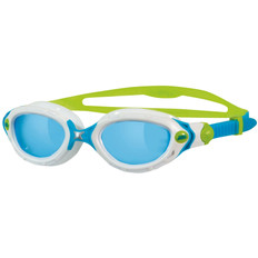 Zoggs Predator Flex Womens Goggles Blue Lens White/Blue/Lime