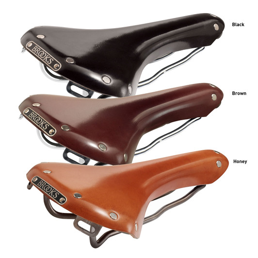 Brooks Swallow Leather Saddle With Titanium Rails
