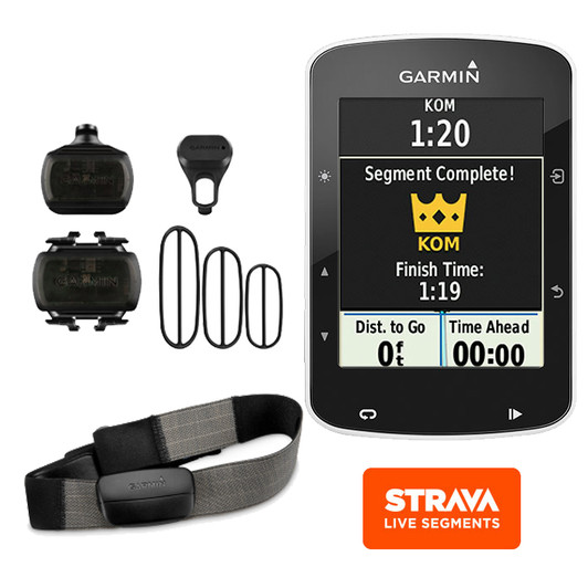 Garmin Edge 520 GPS Computer Speed, Cadence & Heart Rate Sensor Bundle