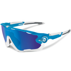 Oakley Jawbreaker Team Sky Sunglasses  Iridium Lens
