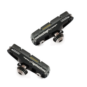 SwissStop Flash Pro Black Prince Brake Shoe/Pad Set For Carbon Rims