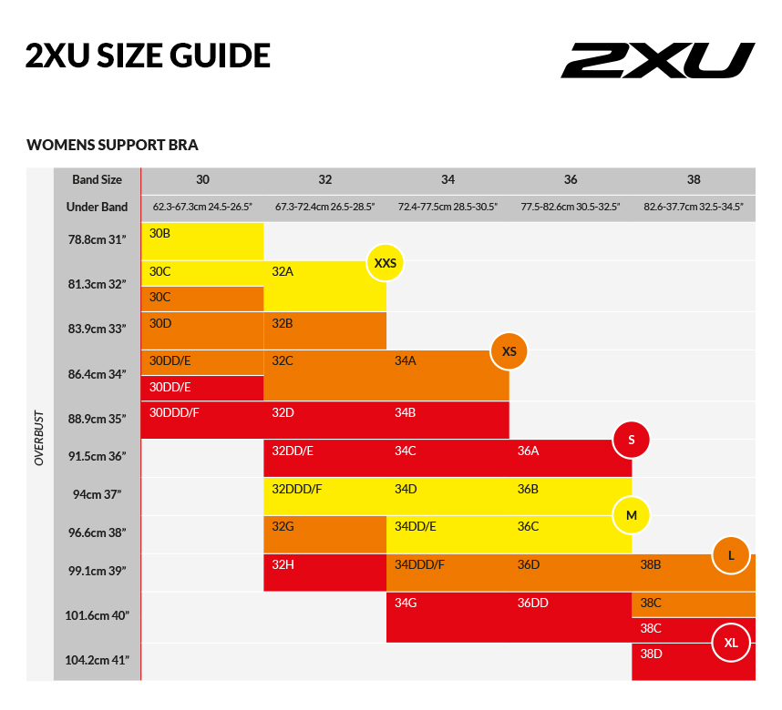 2XU Medium Impact Support Womens Bra