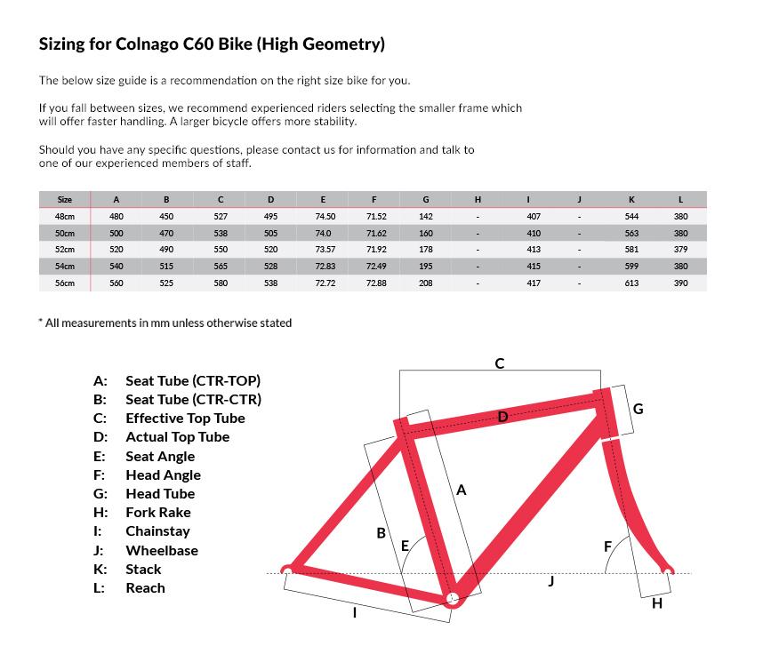 Colnago C60 Matt Carbon Electronic Frameset (High Geometry) | Sigma ...