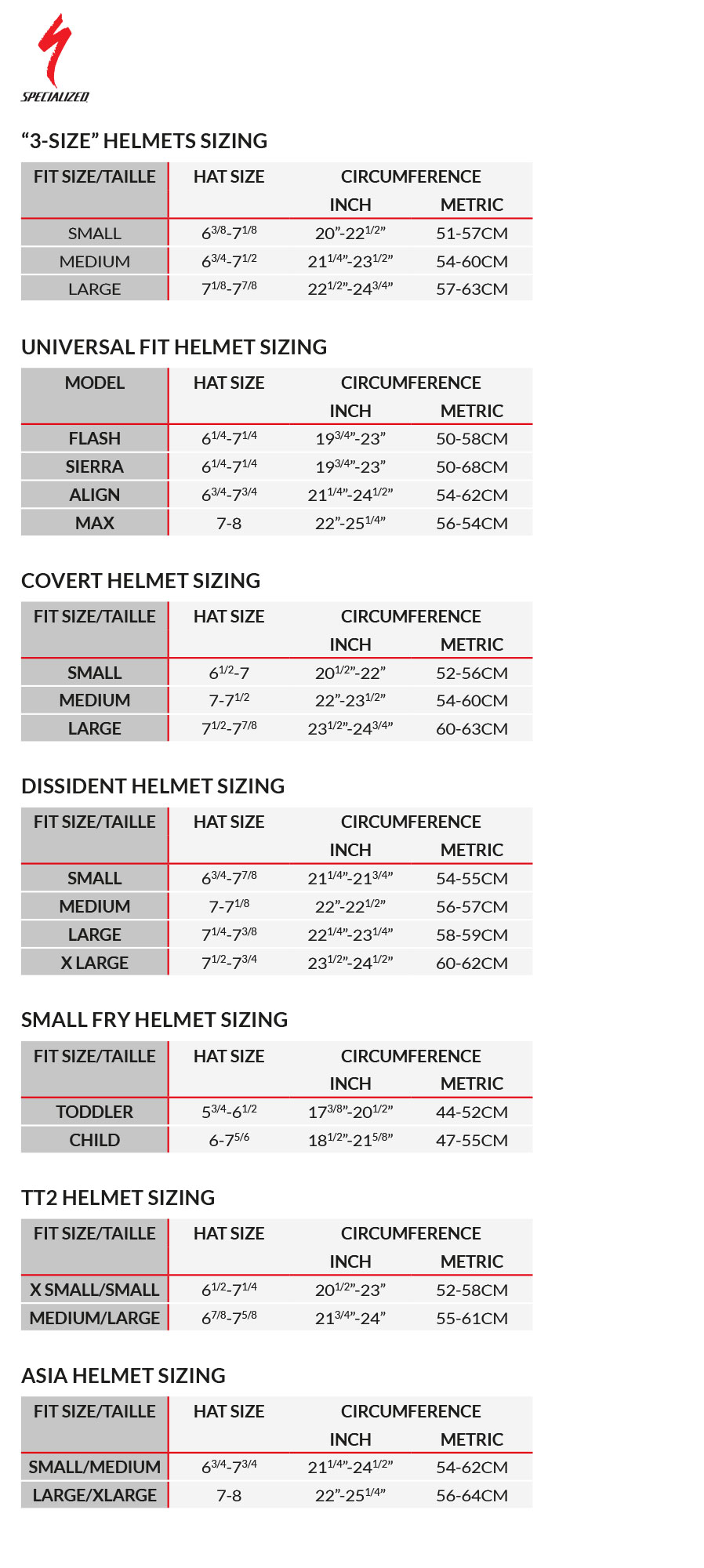 specialized size chart 2017: Specialized shuffle childrens helmet 2016 sigma sports